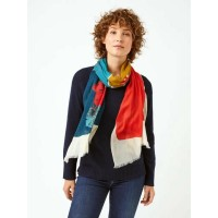 WHITE STUFF Forest Colour Block Wool Scarf MULTI was £32.50