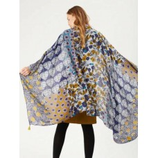 WHITE STUFF Maple And Fig Patchwork Scarf MULTI was £25