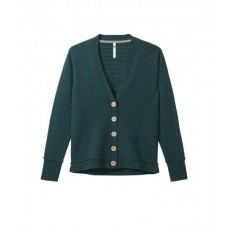WHITE STUFF Trudy V Neck Cardi Foraging Green Plain was £55