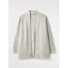 WHITE STUFF Speckled Longline Cardi Neutral was £59.95