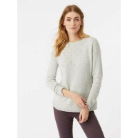 WHITE STUFF Wilderness Bobble Jumper Silver Grey