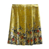WHITE STUFF Maple Soft Print Skirt Seed Pod Chartreuse was £65