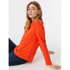 WHITE STUFF Mirri Jersey Top Foxy Orange