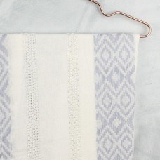 pale blue silver thread scarf