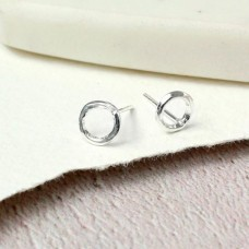 Sterling silver circle studs