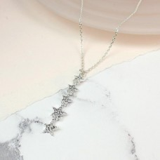 Multi Crystal Stars Drop Necklace
