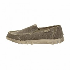 HEY DUDE Farty Natural Braided in Tundra Organic Cotton Was £44.95