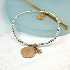 worn gold leaf imprint bracelet