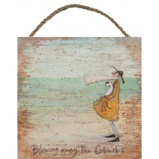 SAM TOFT (BLOWING AWAY THE COBWEBS)-WOODEN BLOCK