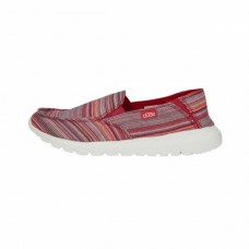 HEY DUDE Ava Ibiza in Red Stripe Textile Was £39.95