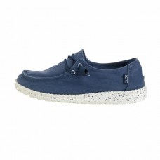 HEY DUDE HEY DUDE Wendy in Steel Blue Washed Canvas Was £44.95