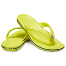 CROCS Adult Crocband Flip Citrus/ Slate Grey Was £21.95