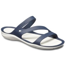 CROCS Womens Swiftwater Sandal Navy/White