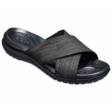 CROCS Womens Capri Shimmer Xband Sandal Black Was £39.95