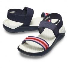 CROCS Womens LiteRide Sandal Navy Colourblock/ Navy