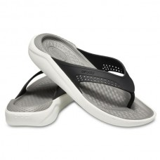 CROCS Adult LiteRide Flip Black/ Smoke