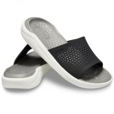 CROCS Adult LiteRide Slide Black/ Smoke