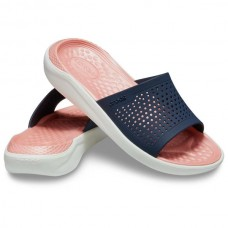 CROCS Adult LiteRide Slide Navy/ Melon