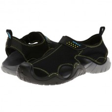CROCS Mens Swiftwater Sandal Black/Charcoal