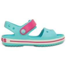 CROCS Kids Crocband Sandal Pool/ Candy Pink RRP £24.95