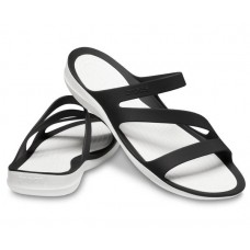 CROCS Ladies Swiftwater Sandal Black/White
