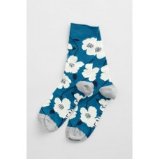 SEASALT Bamboo Arty Socks Wild Mallow Waterscape