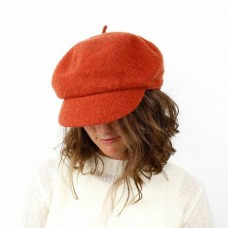 DEEP OCHRE WOOL BAKER BOY HAT