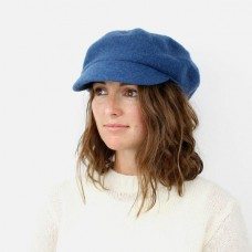 TEAL WOOL BAKER BOY HAT