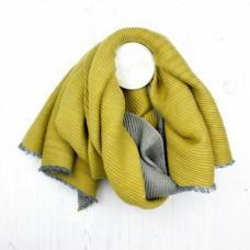 Mustard Grey reversibe winter scarf