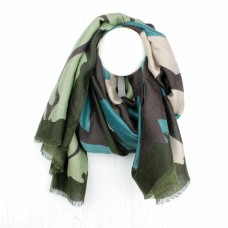 GREEN MIX GRAPHIC SCARF
