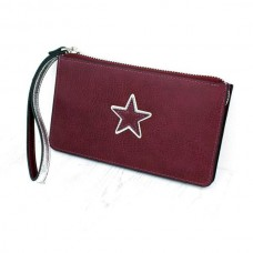STAR DOUBLE PURSE/BURGUNDY