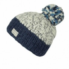 KuSan navy white bobble hat