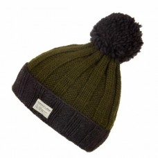 KuSan Bobble Hat Charcoal Green