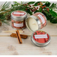 Christmas Hearth slip lid candle
