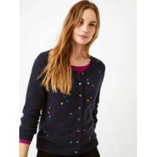 WHITE STUFF Fluttering Hearts Cardi Navy was £55