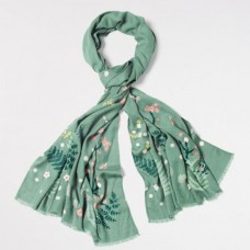 Birds Bees Cherry Trees scarf Multi