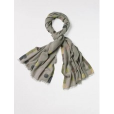 WHITE STUFF Dotty Jacquard Scarf Grey Mix