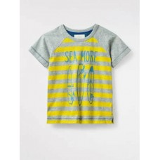 WHITE STUFF Sea More Tee Lemonade Yellow Print