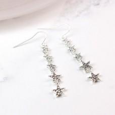 Multi Star Crystal Drop Earrings