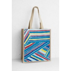 SEASALT CORNWALL Jute Shopper Windbreak Stripe Zennor