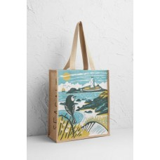 SEASALT CORNWALL Jute Shopper To The Lighthouse