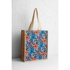 SEASALT CORNWALL Jute Shopper Flower Collage Cobble
