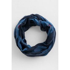 SEASALT CORNWALL Pretty Circle Scarf Poppy Spot Night