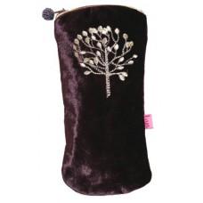 LUA Mulberry Tree Glasses Case Dark Plum