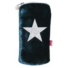 LUA Glitter Star Glasses Case Dark Turquoise