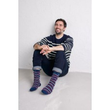 SEASALT CORNWALL Men's Sailor Socks Duet Marine Redsail