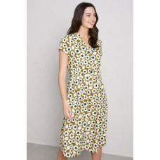 SEASALT CORNWALL Pencil Box Dress Swatch Floral Pear