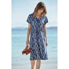 SEASALT CORNWALL Field Poppy Dress Frost Stones Marine