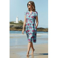 SEASALT CORNWALL Brenda Dress Jumbo Boats Watercress