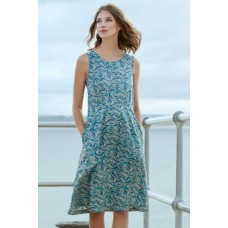 SEASALT CORNWALL Quick Sketch Dress Lighthouse View Pebble was £59.95